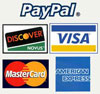 Accepting PayPal, Discover, Visa, Mastercard, and American Express